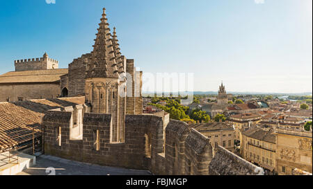 View from Papal palace in Avignon, France. - Stock Photo