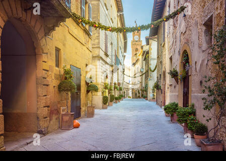 Beautiful places in the magical tiny town - Stock Photo