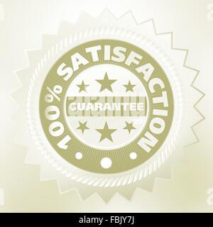 Elegant vintage satisfaction label. EPS 8 - Stock Photo