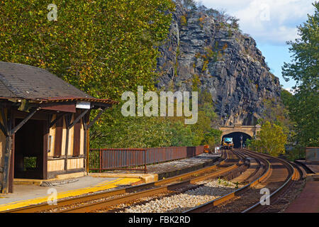 Harpers Ferry railroad tunnel in West Virginia, USA. - Stock Photo