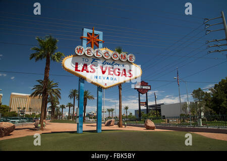 The 'Welcome to Las Vegas' Sign on the Strip, Las Vegas - Stock Photo
