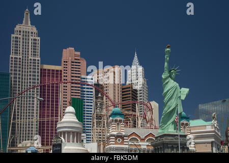 New York New York Casino - Las Vegas - Stock Photo