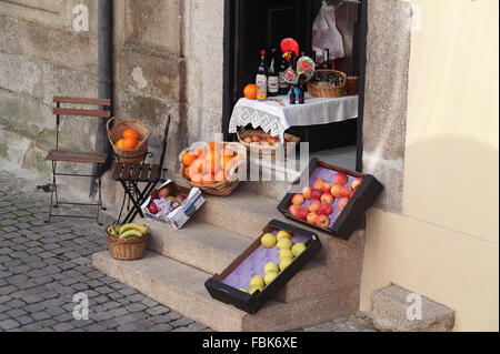 Street view in the Portuguese city of Oporto - Stock Photo