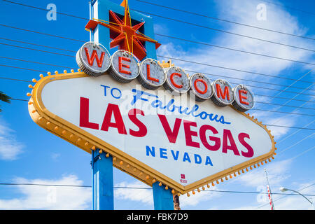 Welcome to fabulous Las Vegas Sign - Stock Photo
