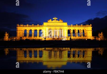 The Gloriette in the Schonbrunn Palace Garden, Vienna, Austria - Stock Photo