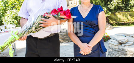 Wedding guests posing. - Stock Photo