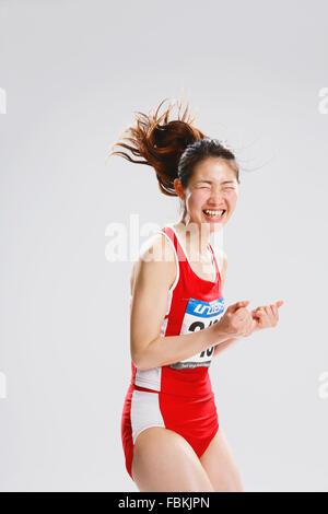 Japanese female athlete Stock Photo