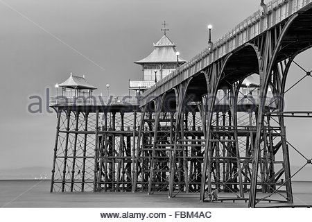 A view of Clevedon Pier, Somerset. - Stock Photo