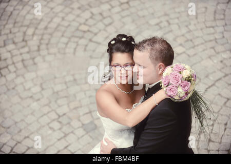 the most beaufiful day in our life - our wedding ceremony - Stock Photo
