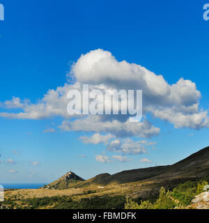 Scenic View Of Mountain Against Cloudy Sky - Stock Photo