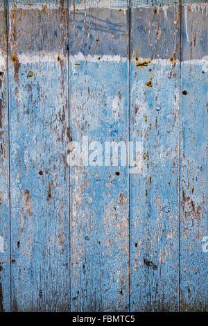 Old painted wooden door texture. UK - Stock Photo