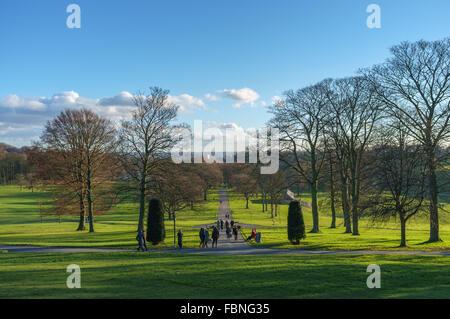 Roundhay Park in Leeds, England. - Stock Photo