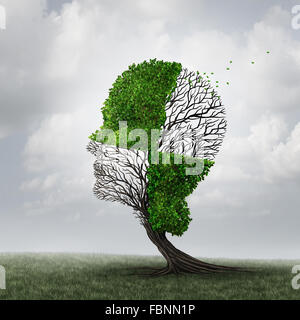 Compartmentalization and compartmentalize psychology as a mind defense mechanism concept or mental health disease - Stock Photo