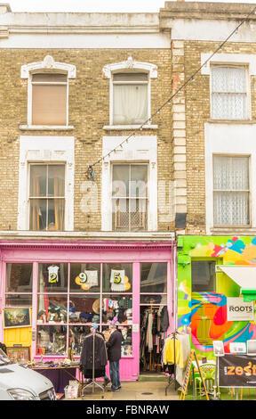 second hand goods store at 295, portobello road, notting hill, london, england - Stock Photo