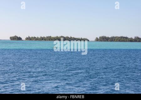 Scenic View Of Sea Against Clear Sky - Stock Photo