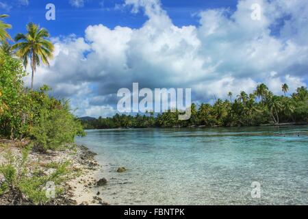 Scenic View Of Sea Against Cloudy Sky - Stock Photo