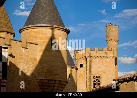 Olite castle. Navarre. Spain - Stock Photo