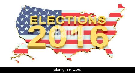Election 2016 USA concept - Stock Photo