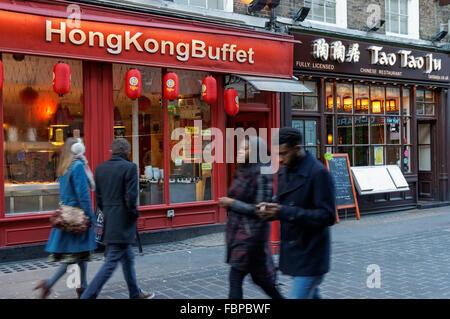 Chinese restaurant on Lisle Street in Chinatown, London England United Kingdom UK - Stock Photo