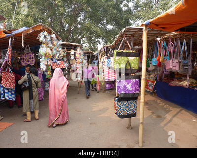 Shopping Center for Pilgrims Outside a Hindu Temple in India - Stock Photo