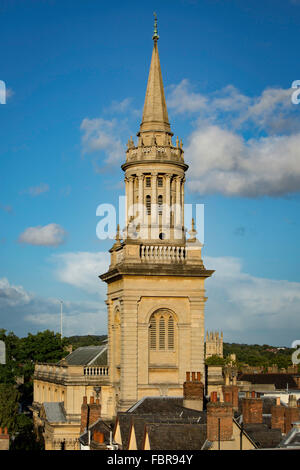Rooftop view of Lincoln College Library, Oxford, Oxfordshire, England, UK - Stock Photo