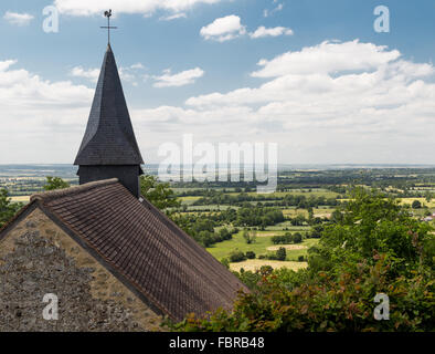 The church of Coudehard Orne (Eglise De Coudehard), on hill 262 high above the Falaise Pocket, Normandy, France - Stock Photo