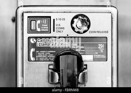 Public telephone in New York city - Stock Photo