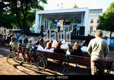 Espa Stage, which hosts the longest festival of music in Finland. Helsinki, Finland. - Stock Photo