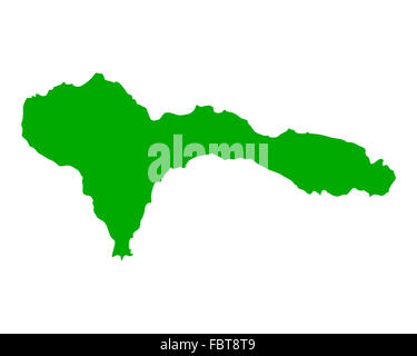 Map of Sao Nicolau - Stock Photo