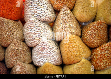 a variety of cereals - Stock Photo