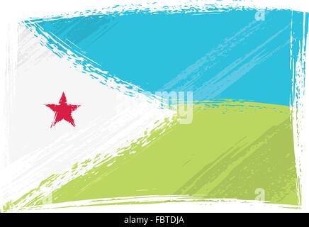 Grunge Djibouti flag - Stock Photo