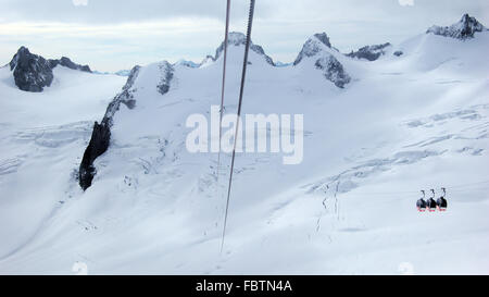 Cable car Panoramic Mont-Blanc - Stock Photo