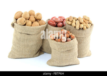 Unshelled Different Types Nuts. - Stock Photo
