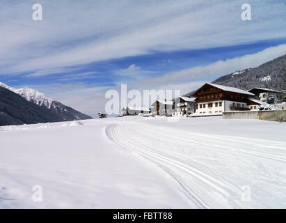 cross-country ski trail - Stock Photo