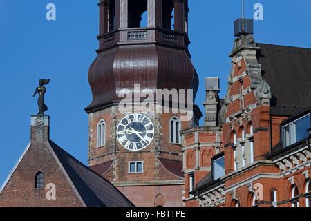 St. Katharinen church in Hamburg - Stock Photo