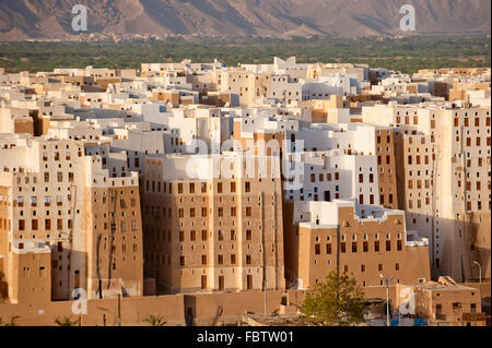 Panorama of Shibam, Hadhramaut province, Yemen - Stock Photo