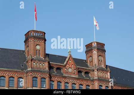 The Kontorhaus Laeiszhof in Hamburg - Stock Photo