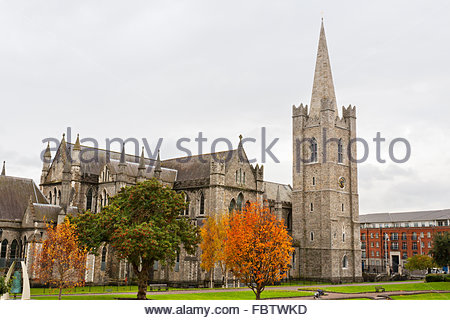 St. Patrick's Cathedral. Dublin, Ireland - Stock Photo
