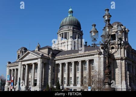Hanseatic higher regional court in Hamburg - Stock Photo