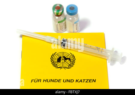vaccinatiion animal - Stock Photo