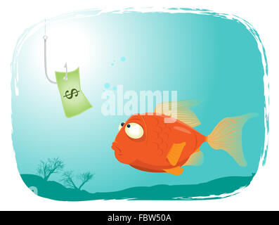 Fishing with Money - Stock Photo