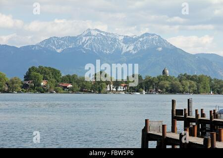 View on the Fraueninsel - Stock Photo