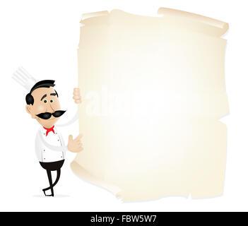 List Menu On A Parchment - Stock Photo