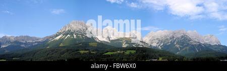 Mountain panorama in Austria - Stock Photo