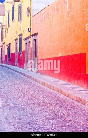 Colorful Streets in San Miguel de Allende - Stock Photo