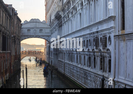 The Bridge of Sighs in Venice, Italy - Stock Photo