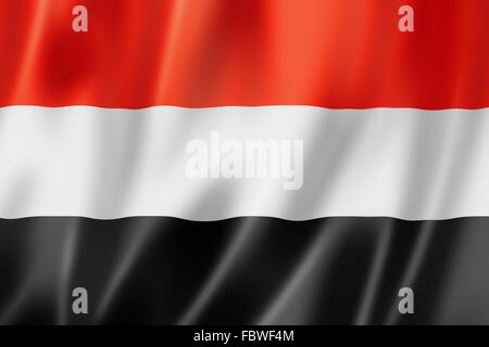 Yemen flag - Stock Photo