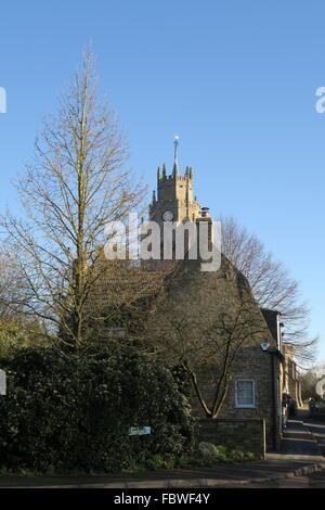 Cambridgeshire village scene - Stock Photo