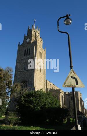 St Andrew's Church Sutton in the Isle Cambridgeshire - Stock Photo