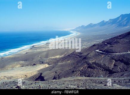 Barlovento beach. Jandia Nature Reserve, Fuerteventura island, Canary Islands, Spain. - Stock Photo